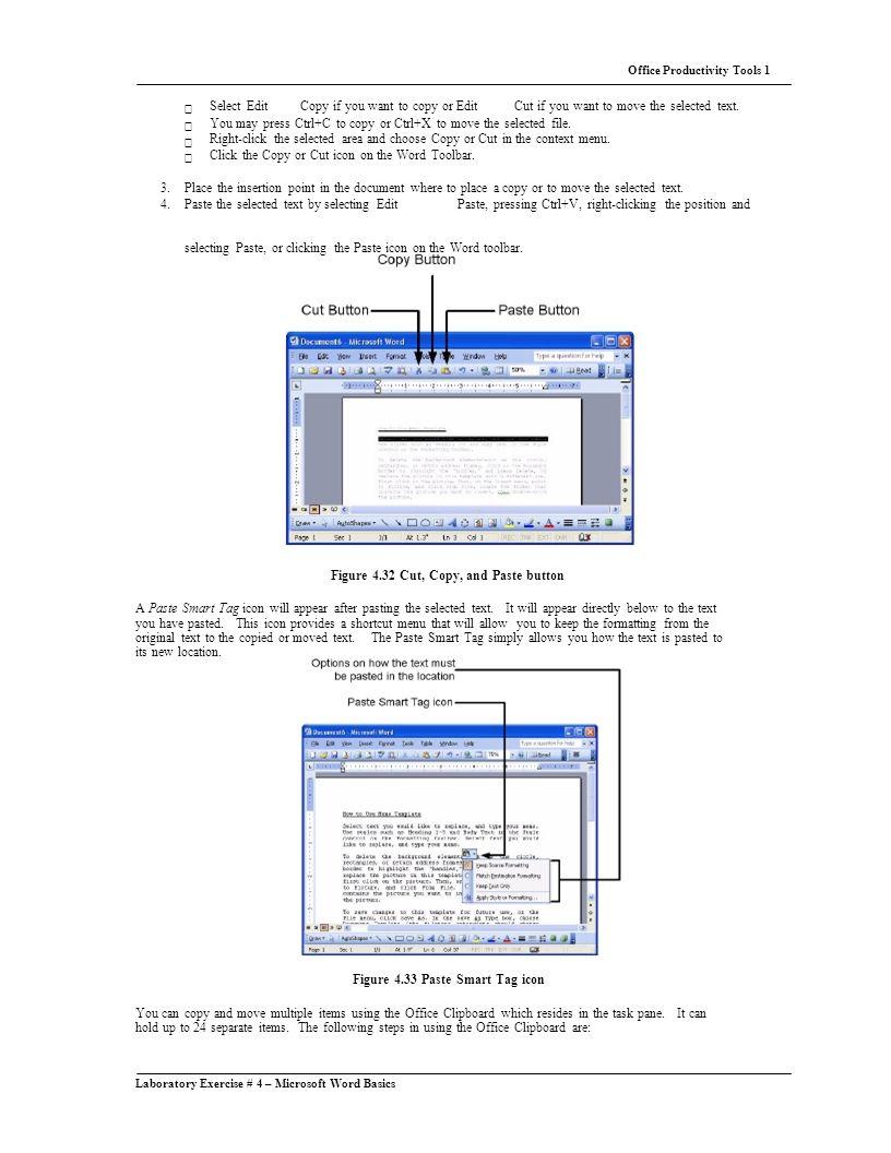 Microsoft Word Basics Office Productivity Tools 1 - ppt video online