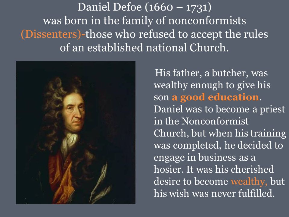 daniel defoe stories