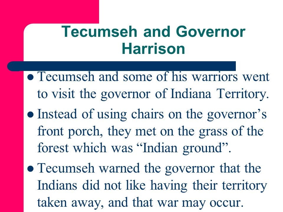 Tecumseh and Governor Harrison