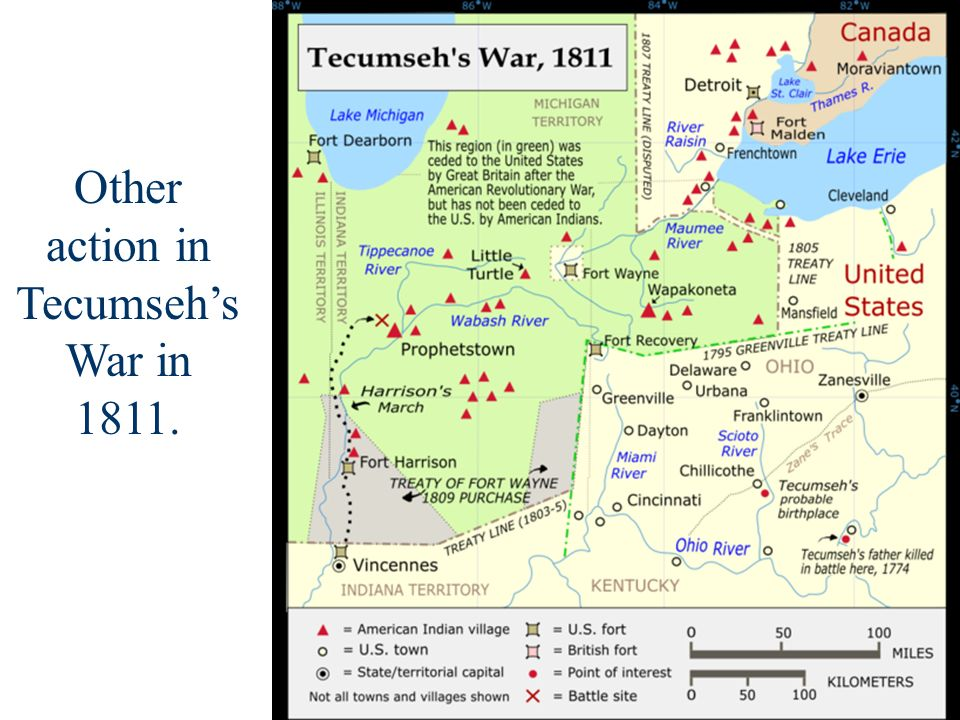 Other action in Tecumseh's War in 1811.