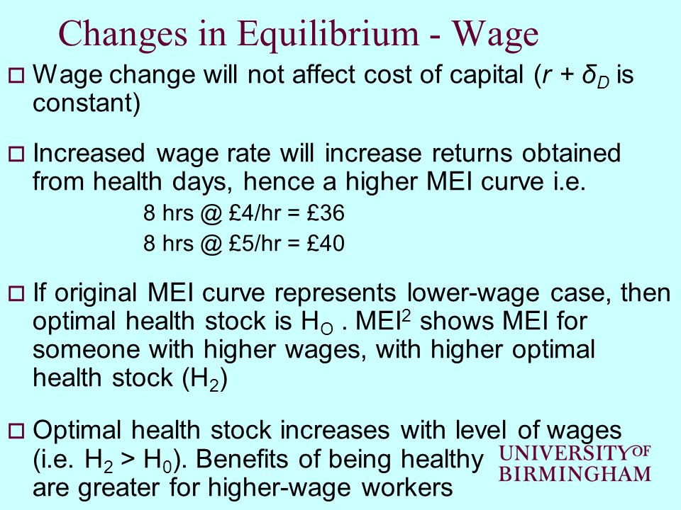 Changes in Equilibrium - Wage