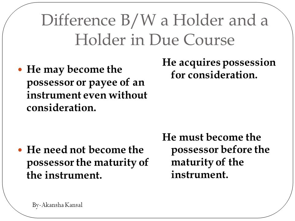 define holder in due course