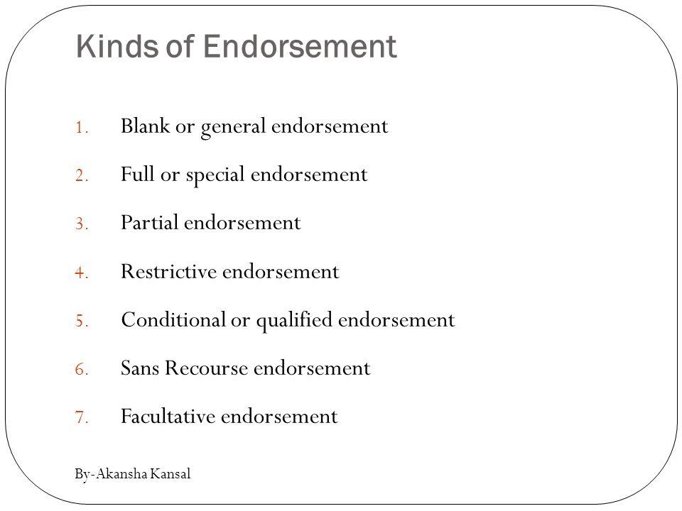 blank endorsement example