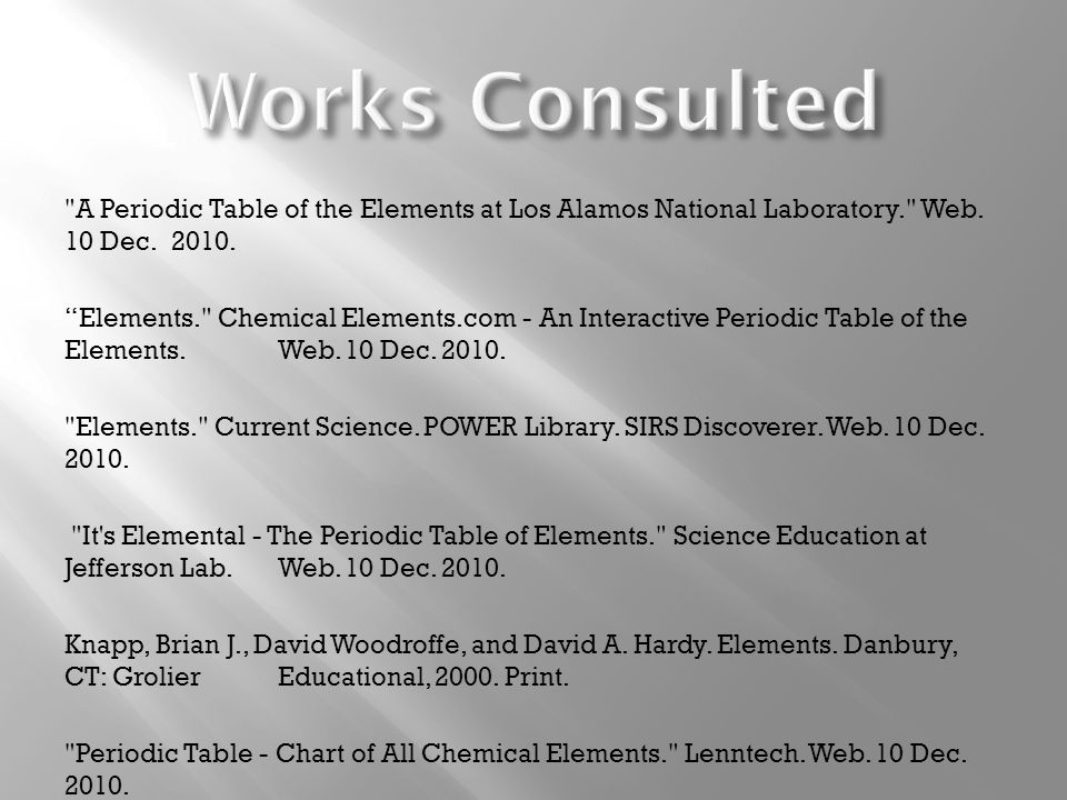 What is platinum mandisa keswa ppt video online download works consulted a periodic table of the elements at los alamos national laboratory web urtaz Image collections