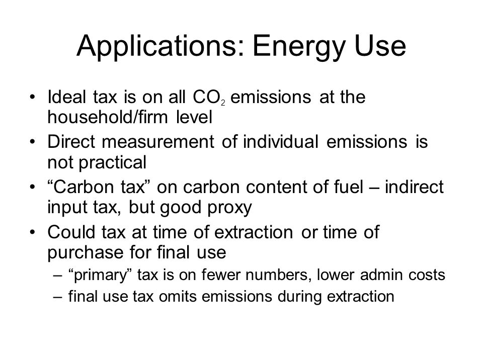 Applications: Energy Use