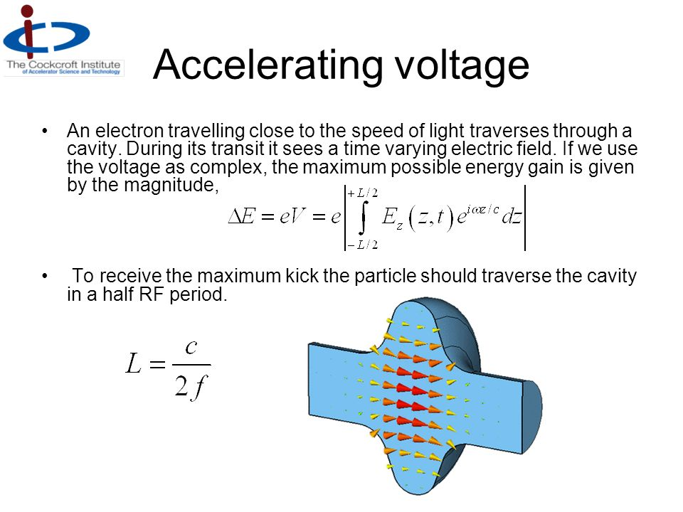 Accelerating voltage
