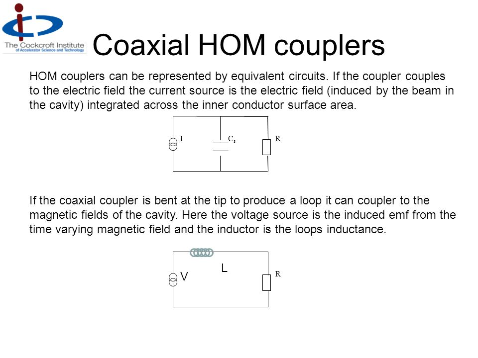Coaxial HOM couplers