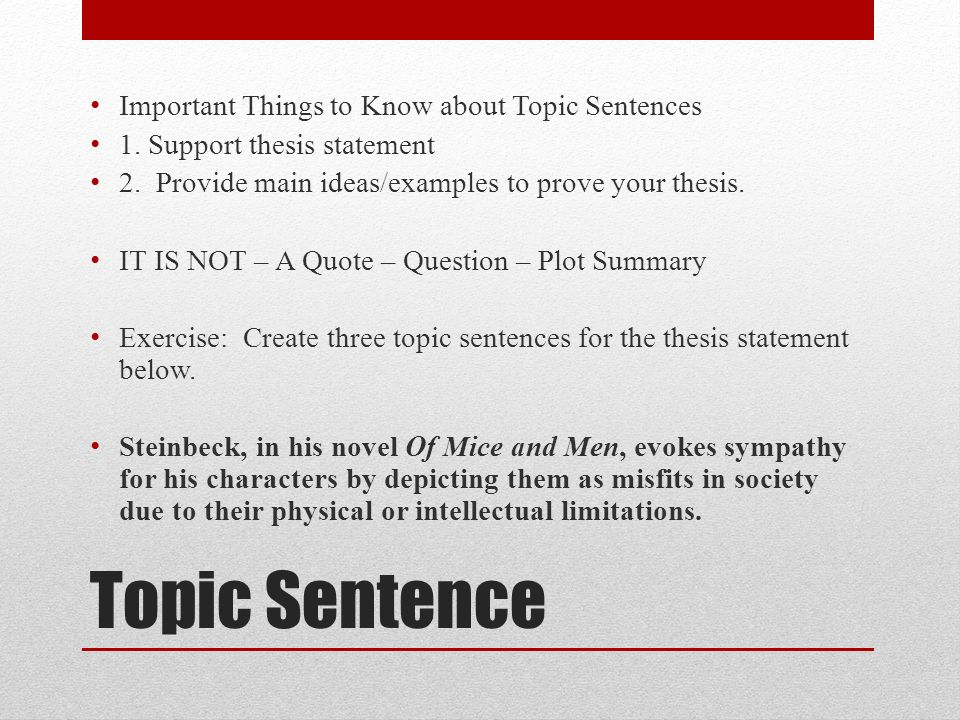 thesis statement for of mice and men
