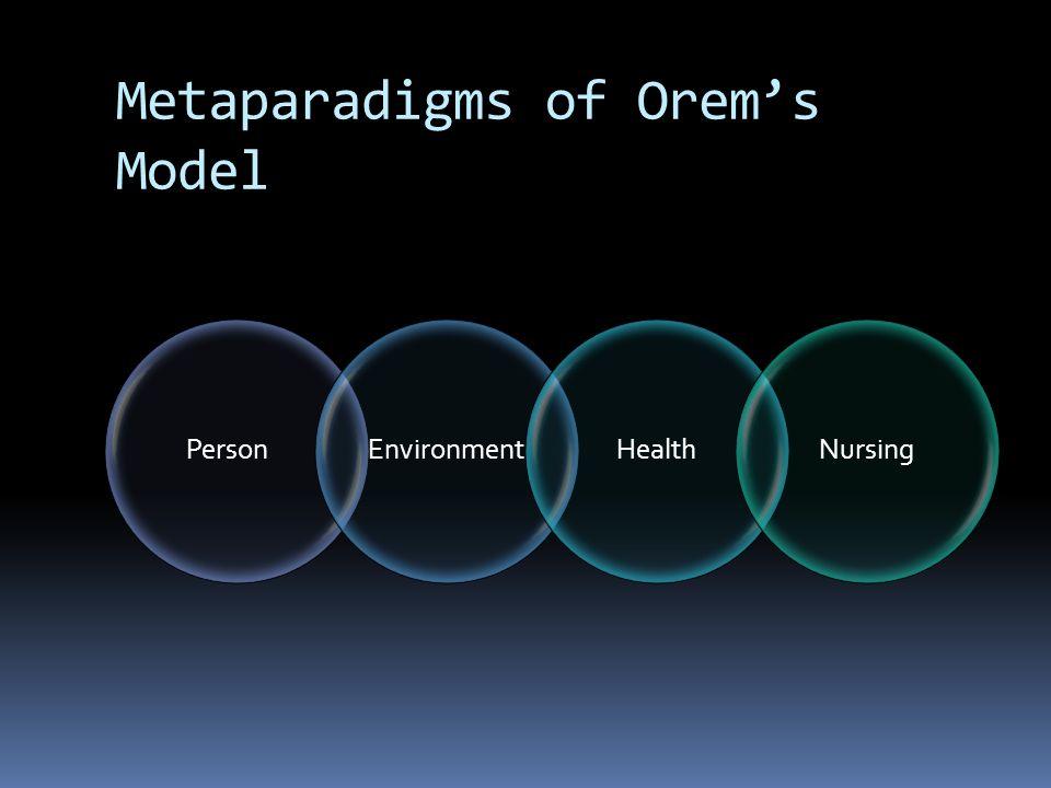 orem model of nursing example