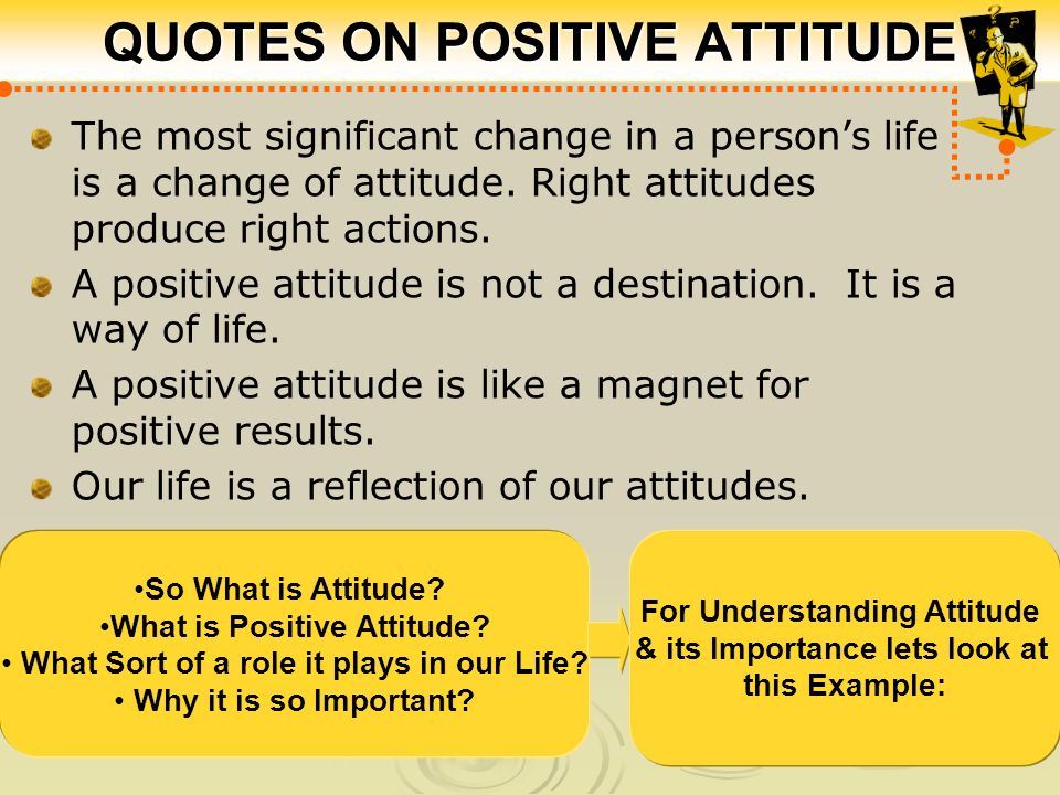 positive attitude is the key to success