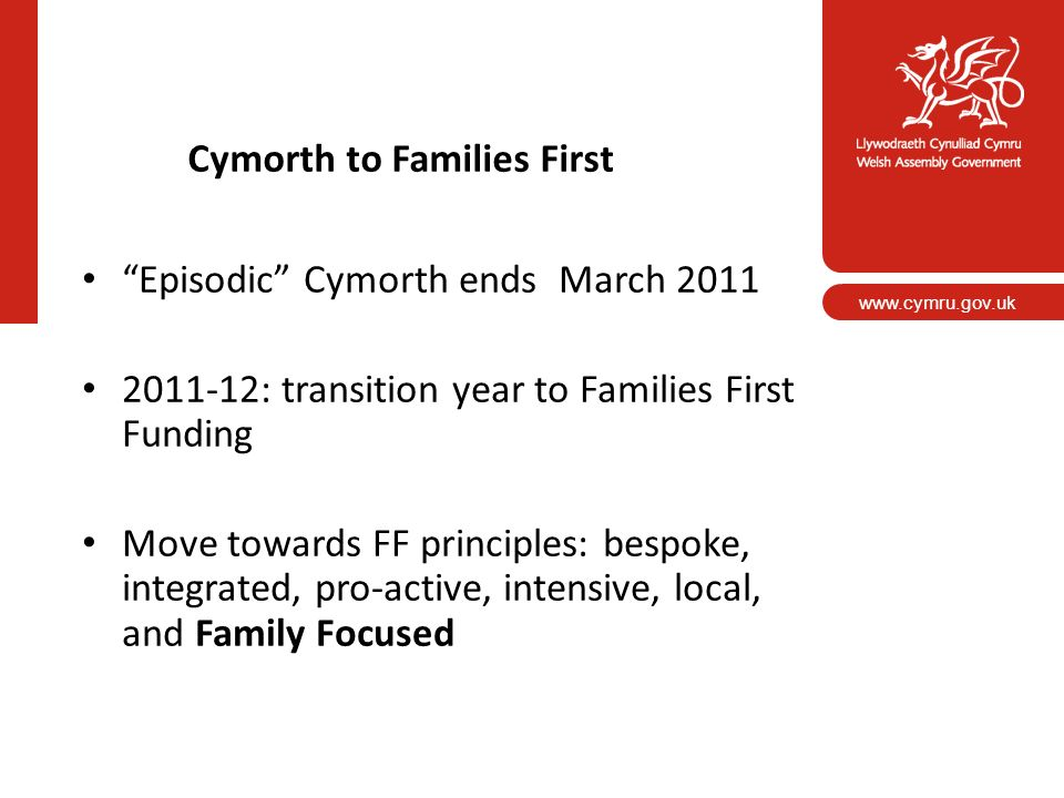 Cymorth to Families First