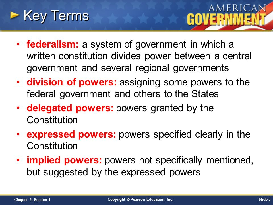 Chapter 4: Federalism Section 1 - ppt download