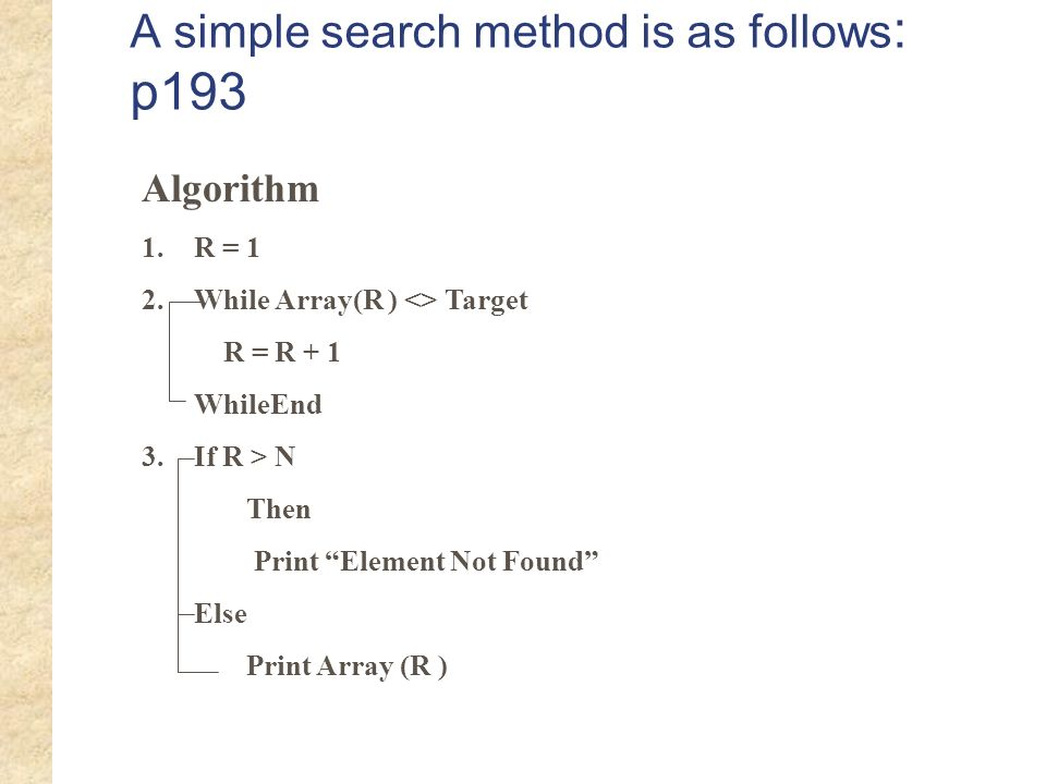 A simple search method is as follows: p193