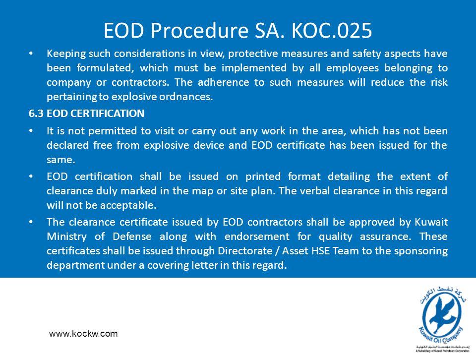 EOD Procedure SA  KOC GENERAL