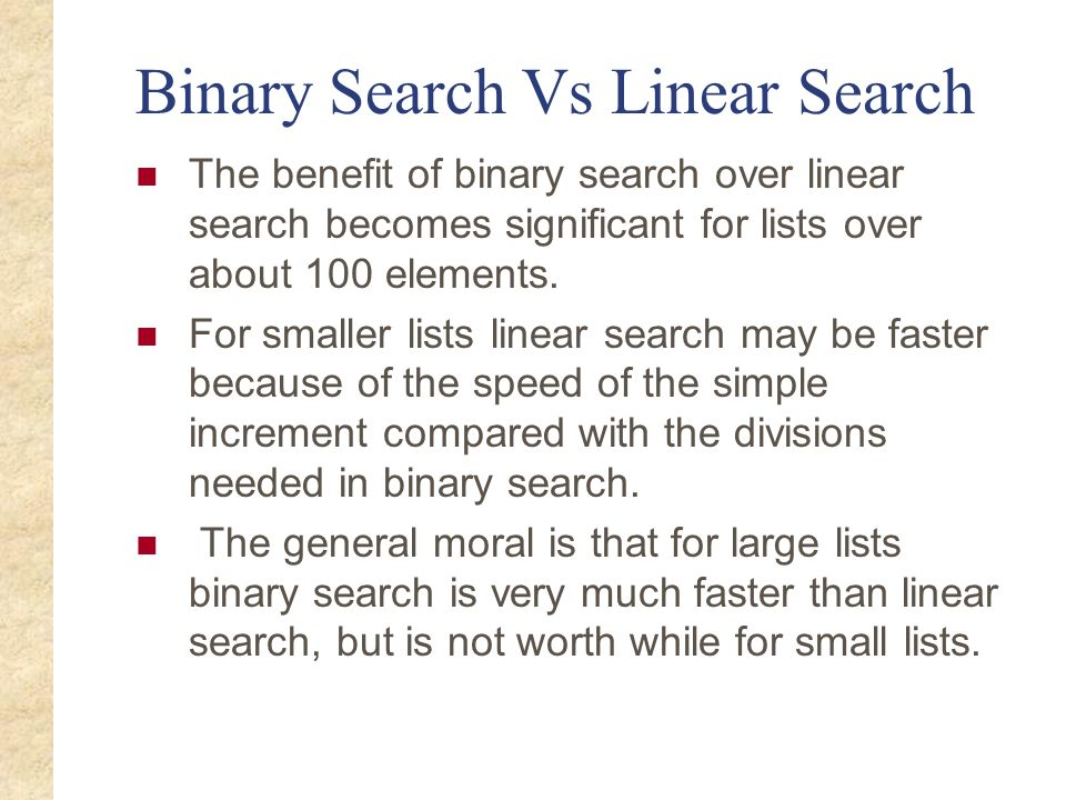 Binary Search Vs Linear Search