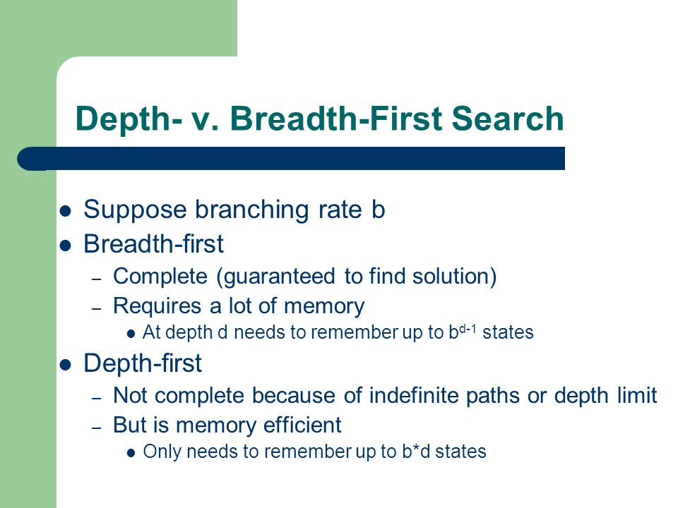 Depth- v. Breadth-First Search