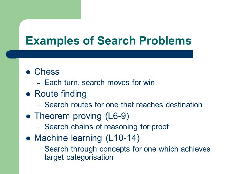 Examples of Search Problems