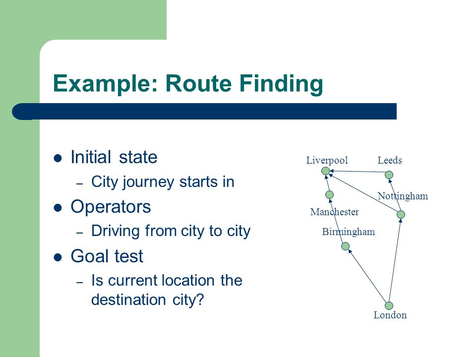 Example: Route Finding