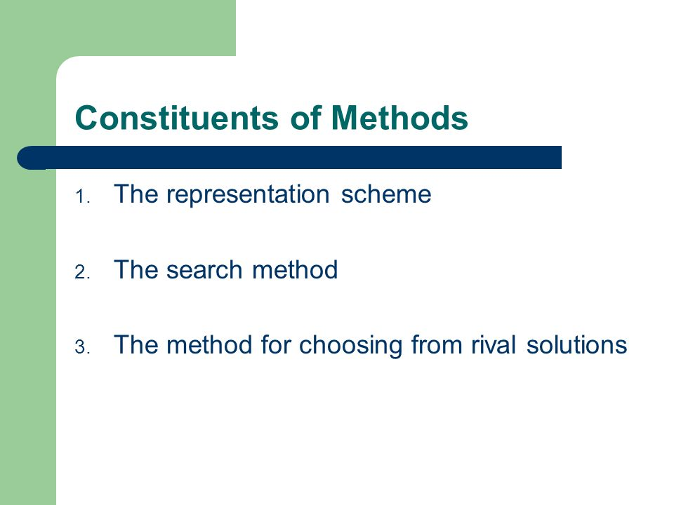 Constituents of Methods