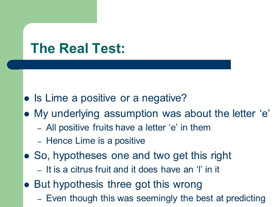 The Real Test: Is Lime a positive or a negative