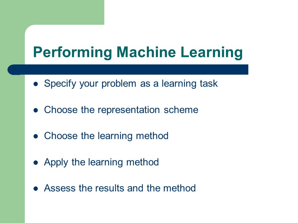 Performing Machine Learning