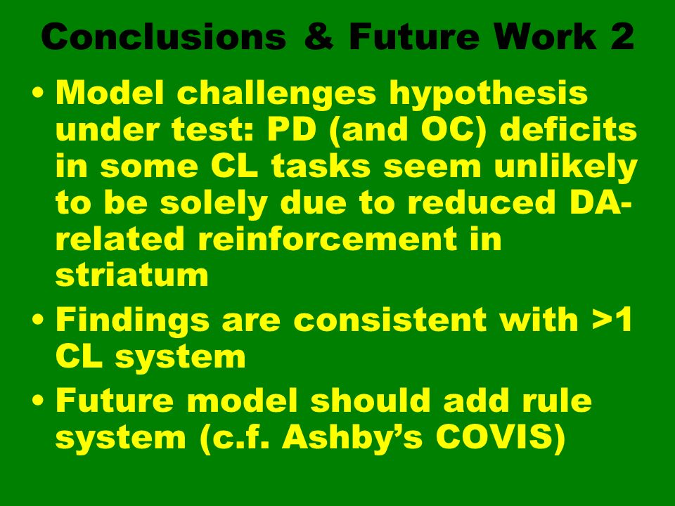 Conclusions & Future Work 2