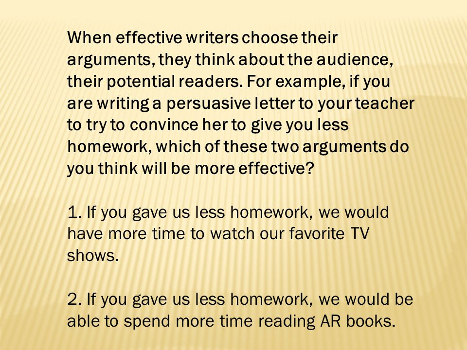 Strong vs weak arguments ppt video online download when effective writers choose their arguments they think about the audience their potential readers spiritdancerdesigns Gallery