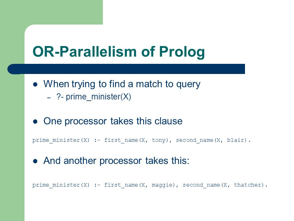 OR-Parallelism of Prolog