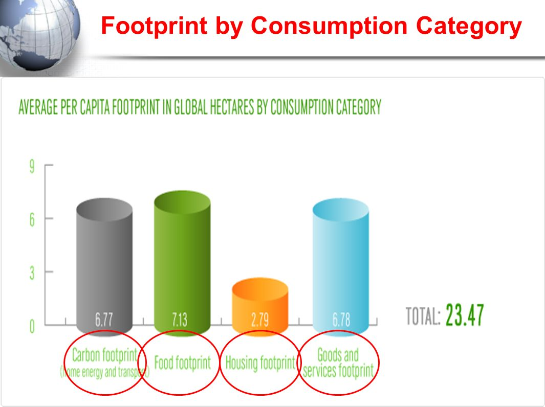 Footprint by Consumption Category