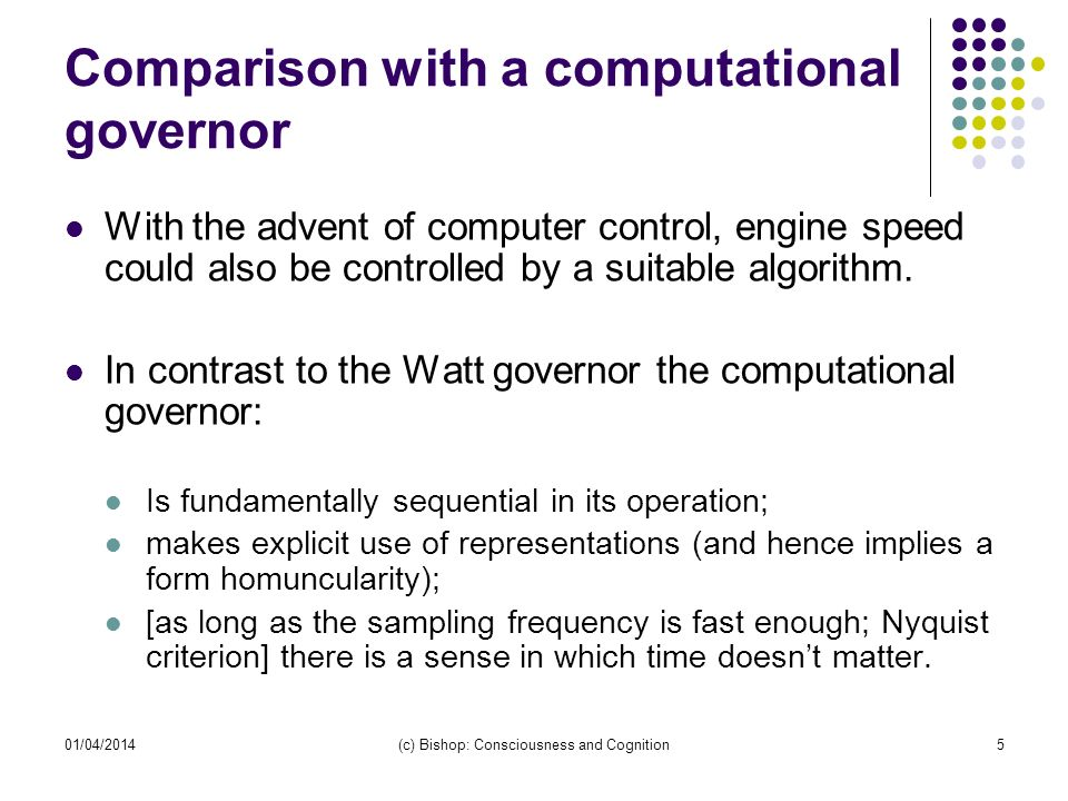 Comparison with a computational governor