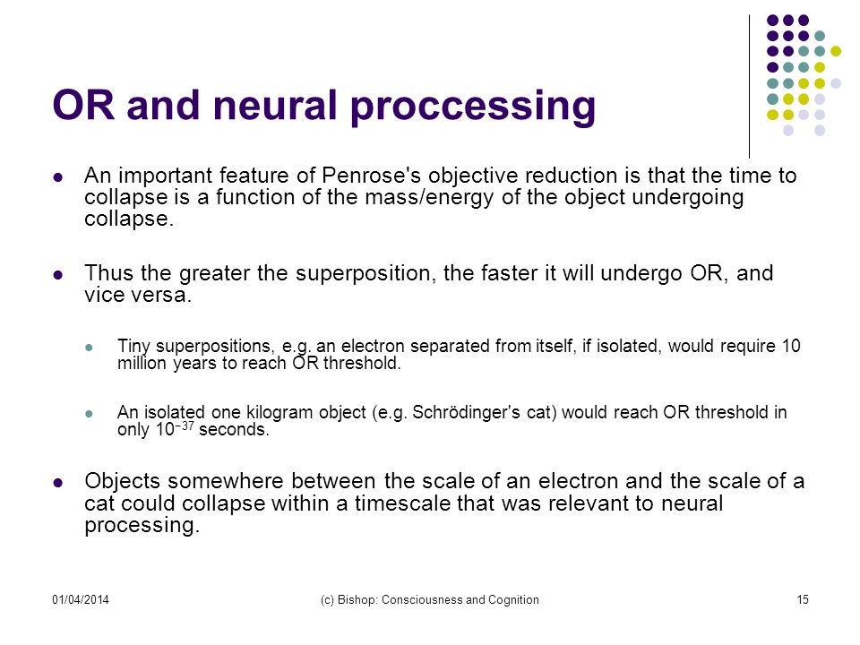 OR and neural proccessing
