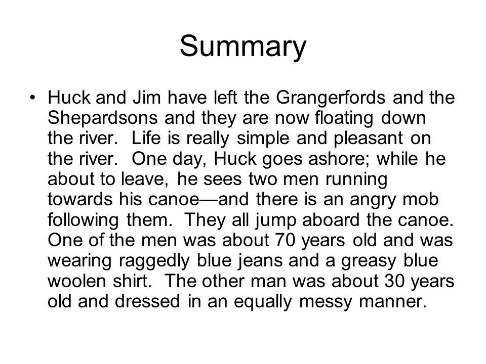 adventures of huckleberry finn summary pdf