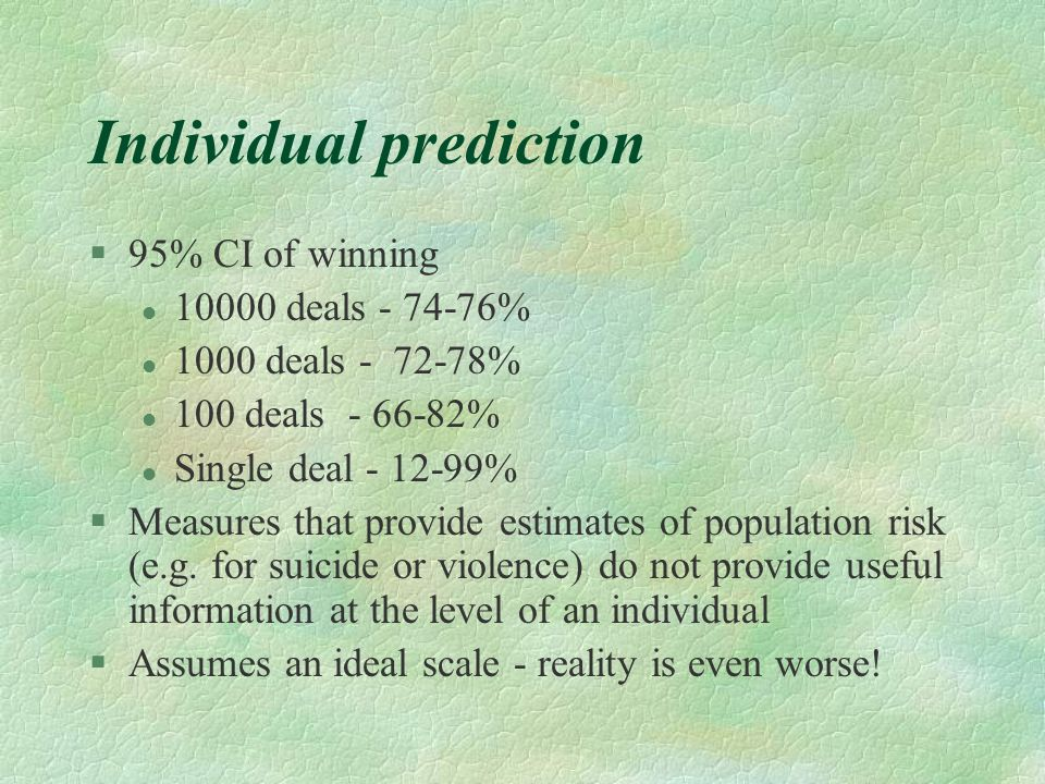 Individual prediction