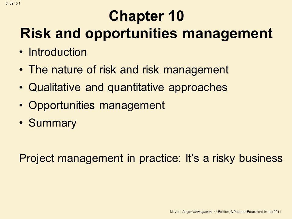 quantitative introduction to business risk The main motive for the implementation of sustainable business practices is based on the business managers' or the corporations' philosophy and closely linked to the possibility of saving costs (landrum and edwardsm 2009 bohdanowicz et al, 2004 hitchcock and willard, 2009.