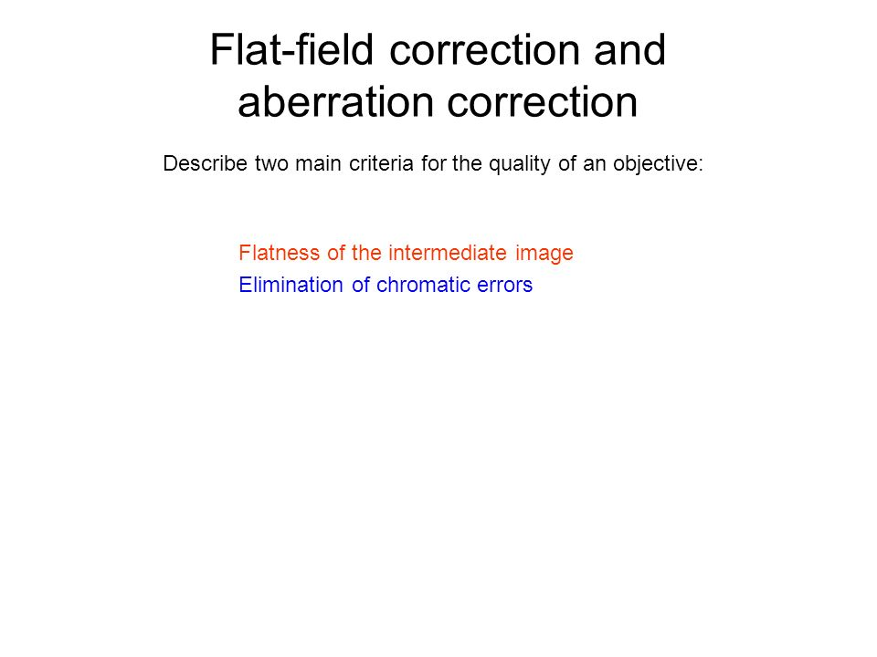 Flat-field correction and aberration correction