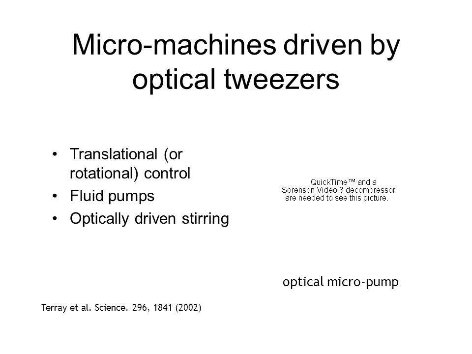 Micro-machines driven by optical tweezers