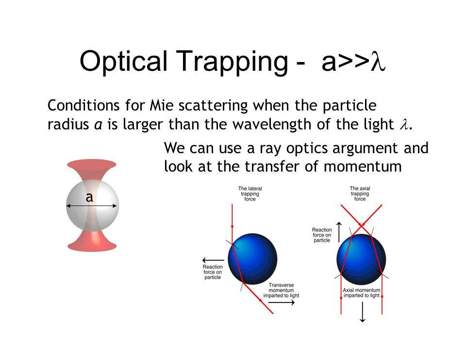 Optical Trapping - a>>