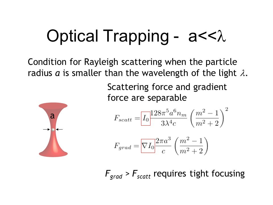 Optical Trapping - a<<