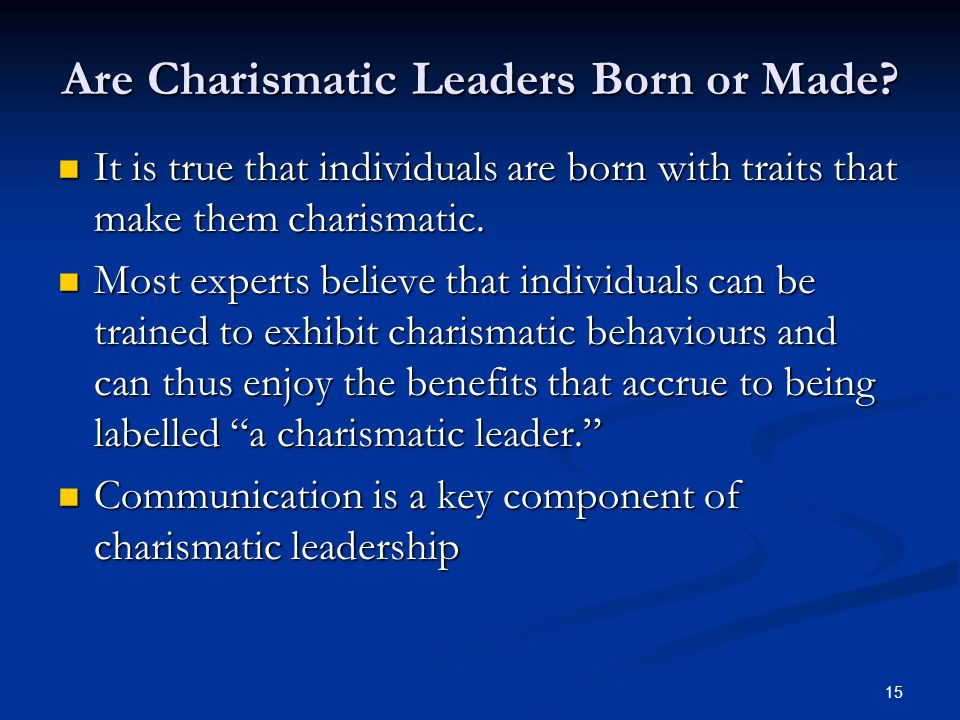are leaders born or trained