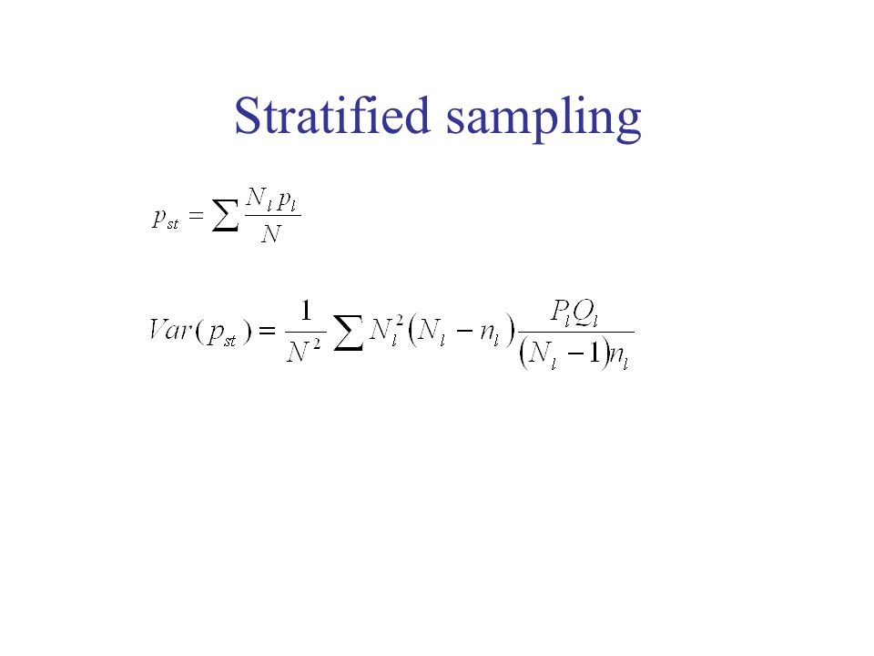 Stratified sampling