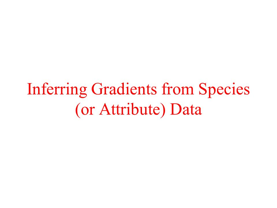 Inferring Gradients from Species (or Attribute) Data