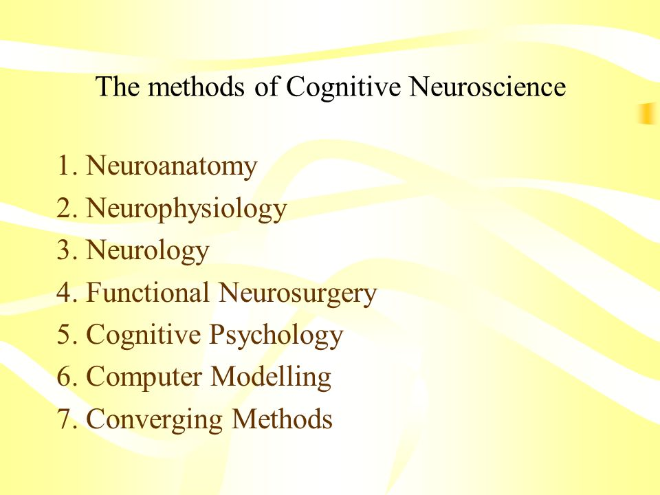 The methods of Cognitive Neuroscience