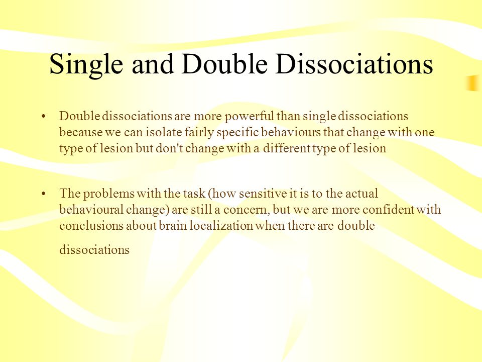 Single and Double Dissociations