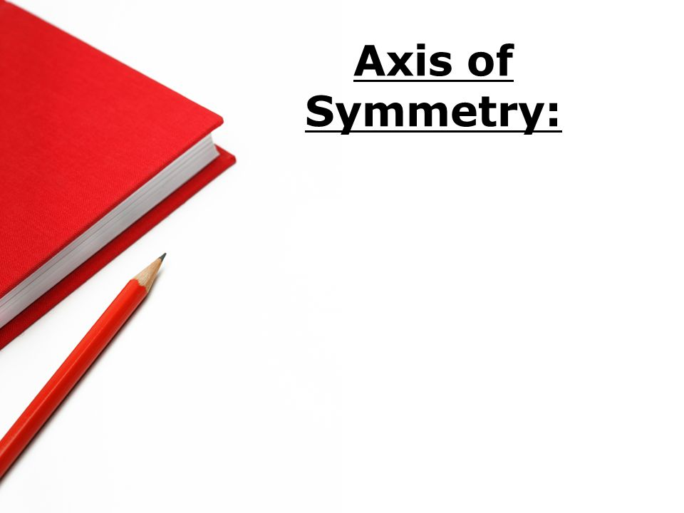Axis of Symmetry: