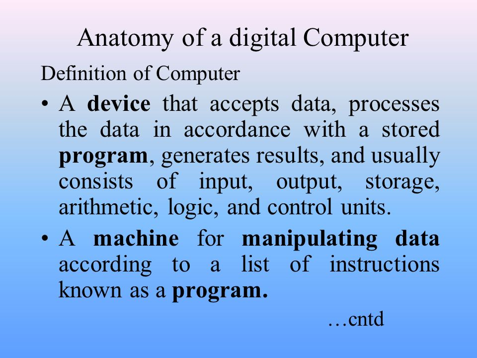 An overview of Computer System - ppt video online download