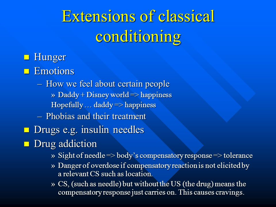 Extensions of classical conditioning