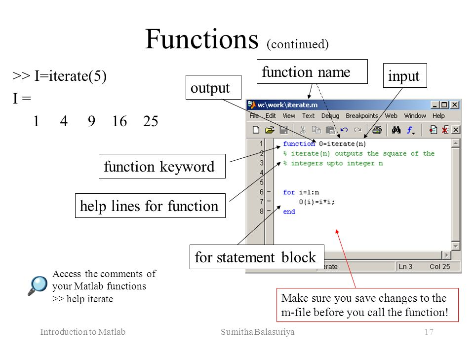 Functions (continued)