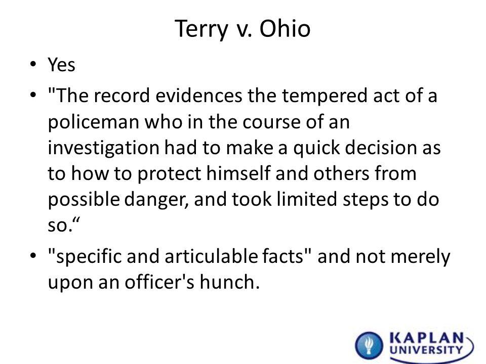 terry v ohio case brief analysis