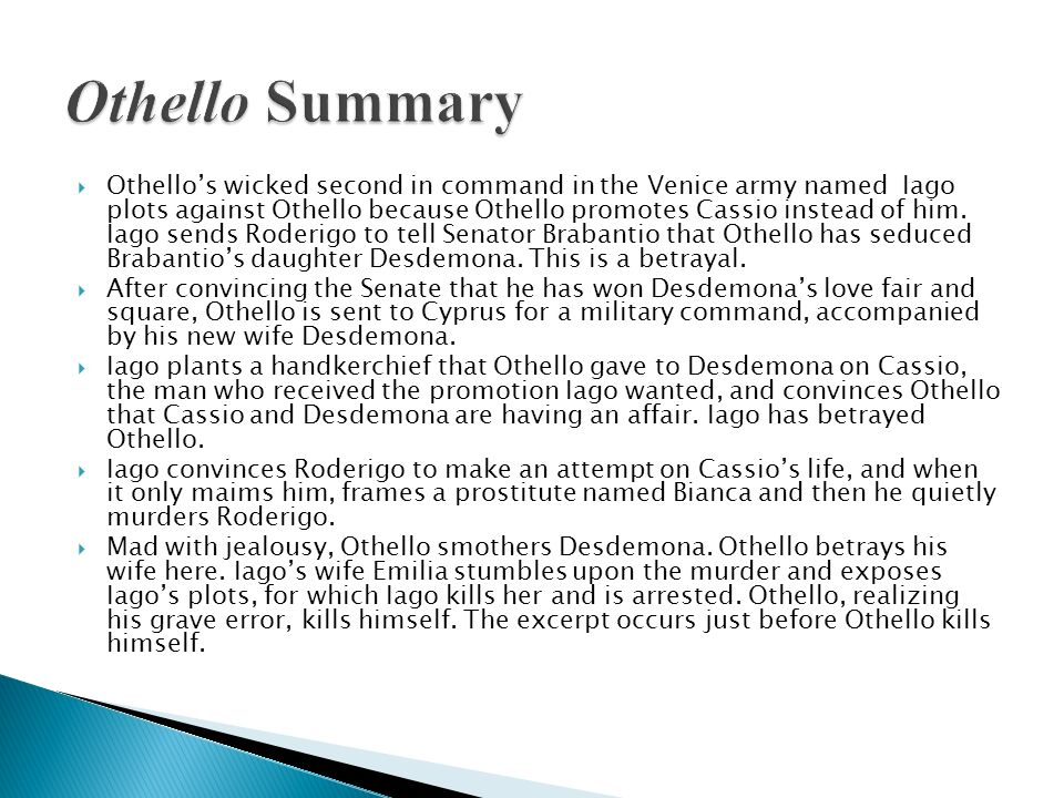 Othello Summary