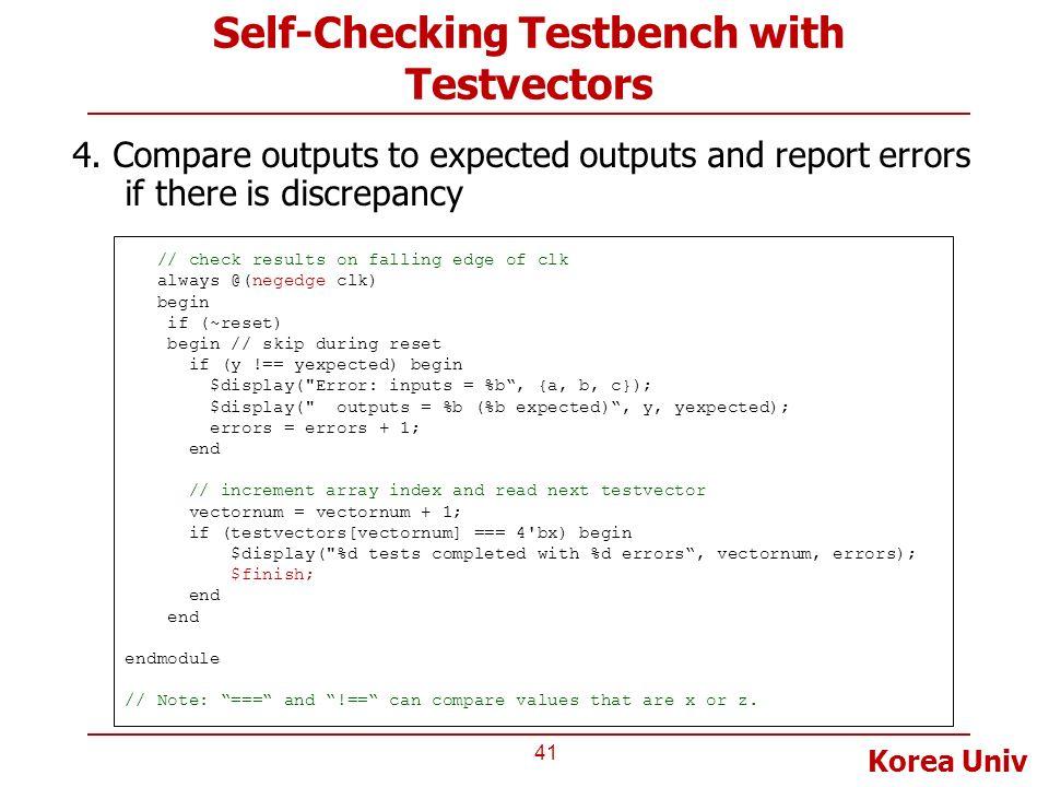 Verilog Test Bench Example
